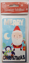 Merry Christmas Santa & Penguin Money Wallet